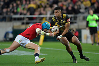 Hurricanes' Julian Savea in action during the New Zealand Lions Series - Hurricanes v British and Irish Lions at Westpac Stadium, Wellington, New Zealand on Tuesday 27 June 2017.<br /> Photo by Masanori Udagawa<br /> www.photowellington.photoshelter.com.