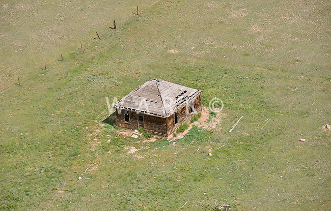 Abandoned farm house on Colorado's eastern plains.  July 16, 2013