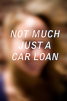 """Anonymous portrait taken in Cambridge, Massachusetts, USA,  paired with text answering the question: How much do you owe?  The project was produced as a look at personal debt for Longshot Magazine #2.  ..The person's response here reads: """"Not much just a car loan"""""""