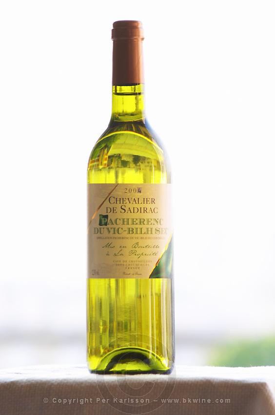 Bottle of Chevalier de Sadirac Pacherenc du Vic Bilh Sec Cave de Crouseilles dry white wine Madiran France