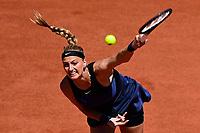 30th May 2021; Roland Garros, Paris, France; French Open Tennis championships, day 1;  Petra Kvitova Cze