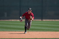 Arizona Diamondbacks shortstop Camden Duzenack (3) fields a ground ball during Spring Training Camp at Salt River Fields at Talking Stick on March 12, 2018 in Scottsdale, Arizona. (Zachary Lucy/Four Seam Images)