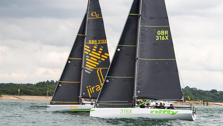 Cape 31s racing at Cowes Week