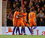Memphis Depay celebrates his goal for the Netherlands