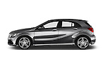 Car Driver side profile view of a 2016 Mercedes Benz A-Class Fascination 5 Door Hatchback Side View