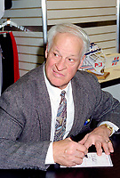 1994 File Photo - Gordie Howe.<br /> <br /> Howe  is  a retired professional ice hockey player who played for the Detroit Red Wings and Hartford Whalers of the National Hockey League, and the Houston Aeros and New England Whalers in the World Hockey Association.