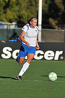 19 July 2009: Stacy Bishop of the Boston Breakers drives upfield during the game at Buck Shaw Stadium in Santa Clara, California.  The Boston Breakers defeated the FC Gold Pride, 1-0.