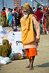 Indian Man in Allahabad for Kumbh Mela Festival