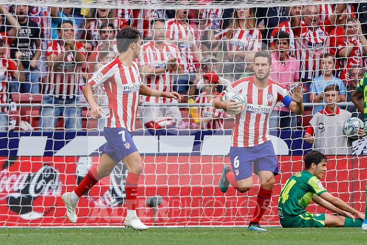 Joao Felix of Atletico de Madrid celebrates goal during La Liga match between Atletico de Madrid and SD Eibar at Wanda Metropolitano Stadium in Madrid, Spain.September 01, 2019. (ALTERPHOTOS/A. Perez Meca)