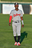 Hector Vargas (19) of the Billings Mustangs before the game against the Orem Owlz in Game 2 of the Pioneer League Championship at Home of the Owlz on September 16, 2016 in Orem, Utah. Orem defeated Billings 3-2 and are the 2016 Pioneer League Champions. (Stephen Smith/Four Seam Images)