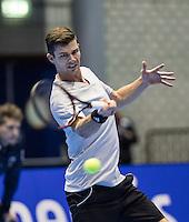Rotterdam, Netherlands, December 15, 2016, Topsportcentrum, Lotto NK Tennis,  Antal van der Duim (NED) <br /> Photo: Tennisimages/Henk Koster