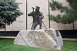 Miner statue at Courthouse, Boulder, Colorado, John offers private photo tours of Boulder, Denver and Rocky Mountain National Park.
