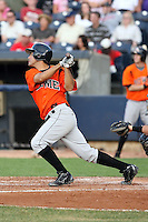 July 10th 2008:  Carlos Rojas of the Bowie Baysox, Class-AA affiliate of the Baltimore Orioles, during a game at Canal Park in Akron, OH.  Photo by:  Mike Janes/Four Seam Images