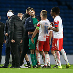 18.3.2021 Rangers v Slavia Prague: Injured keeper Ondrej Kolar
