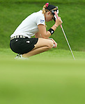 SINGAPORE - MARCH 07:  Paula Creamer of the USA waits for her shot on the par five 15th hole during the third round of HSBC Women's Champions at the Tanah Merah Country Club on March 7, 2009 in Singapore. Photo by Victor Fraile / The Power of Sport Images
