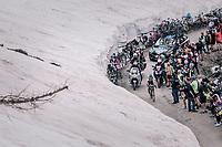 Chris Froome (GBR/SKY) solo's up the gravel roads of the Colle delle Finestre <br /> <br /> stage 19: Venaria Reale - Bardonecchia (184km)<br /> 101th Giro d'Italia 2018
