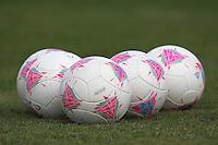 Footballs are seen during a Brazil Women training session at Cardiff University, Cardiff, Wales - 27/07/12 - MANDATORY CREDIT: Gavin Ellis/SHEKICKS/TGSPHOTO - Self billing applies where appropriate - 0845 094 6026 - contact@tgsphoto.co.uk - NO UNPAID USE.