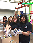 Patrick Henry MS Student Council volunteers at the Houston Food Bank.