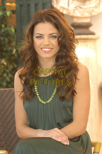 "JENNA DEWAN.Photocall for ""Stp Up"", Hotel Eden, Rome, Italy..December 15th, 2006.half length dress green necklace.CAP/CAV.©Luca Cavallari/Capital Pictures"
