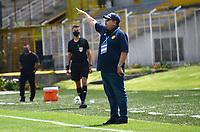 BOGOTÁ- COLOMBIA, 18-02-2021:Bogotá y Leones durante partido de la fecha 1 por el Torneo BetPlay DIMAYOR 2021 jugado en el estadio Metropolitano de Techo de Bogotá./ Bogota and Leones a match of the 1nd for the BetPlay DIMAYOR 2021 Tournament at Metropolitano de Techo  stadium in Bogota Photo: VizzorImage. / Samuel Norato / Contribuidor
