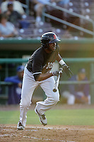 James Simmons of the San Jose Giants during game against the Inland Empire 66'ers at Arrowhead Credit Union Park in San Bernardino,California on August 1, 2010. Photo by Larry Goren/Four Seam Images