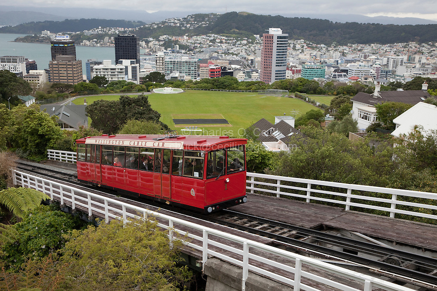 Wellington, New Zealand.  Cable car, built in 1902, to link new housing to the lower portion of the city.