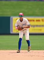 Braddock Bulldogs Jose Hernandez (6) during practice before the 42nd Annual FACA All-Star Baseball Classic on June 5, 2021 at Joker Marchant Stadium in Lakeland, Florida.  (Mike Janes/Four Seam Images)