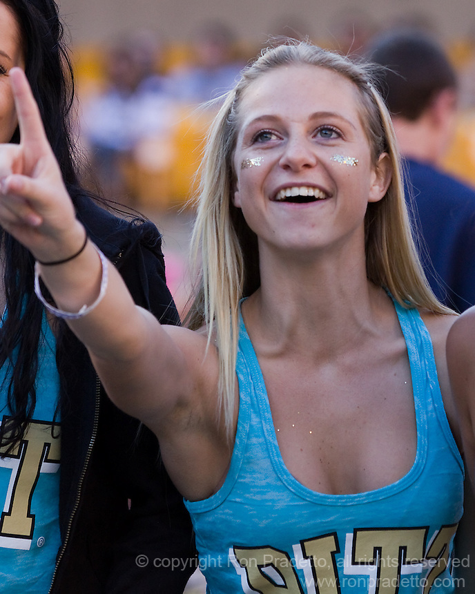 Pitt fan. The Pitt Panthers defeated the Gardner-Webb Runnin Bulldogs 55-10 at Heinz Field, Pittsburgh PA on September 22, 2012..