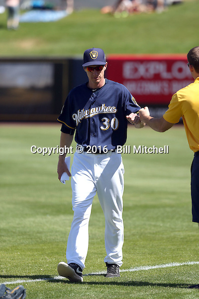 Craig Counsell (manager) - Milwaukee Brewers 2016 spring training (Bill Mitchell)