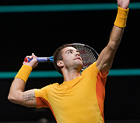Rotterdam, The Netherlands, 6 march  2021, ABNAMRO World Tennis Tournament, Ahoy,  <br /> Semi final: Borna Coric (CRO). Photo: www.tennisimages.com/
