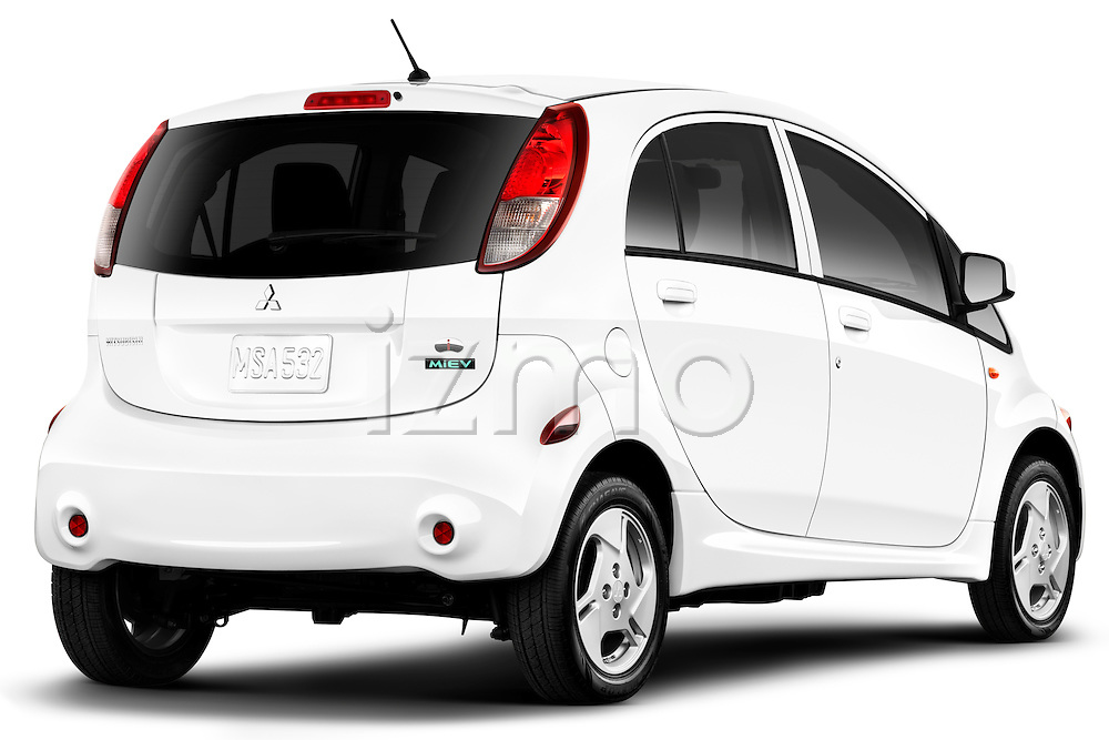 Rear three quarter view of a 2012 Mitsubishi MiEV SE