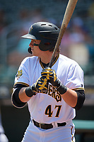 Bradenton Marauders Mason Martin (47) during a Florida State League game against the St. Lucie Mets on July 28, 2019 at LECOM Park in Bradenton, Florida.  Bradenton defeated St. Lucie 7-3.  (Mike Janes/Four Seam Images)