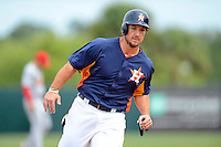 Houston Astros third baseman Brett Wallace #29 during a Spring Training game against the St. Louis Cardinals at Osceola County Stadium on March 1, 2013 in Kissimmee, Florida.  The game ended in a tie at 8-8.  (Mike Janes/Four Seam Images)