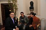 PIPPO BAUDO ED EDOARDO BENNATO<br /> FESTA DEGLI 80 ANNI DI MARTA MARZOTTO<br /> CASA CARRARO ROMA 2011