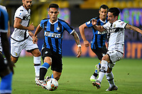 Lautaro Martinez of FC Internazionale and Vincent Laurini of Parma in action during the Serie A football match between Parma and FC Internazionale at stadio Ennio Tardini in Parma ( Italy ), June 28th, 2020. Play resumes behind closed doors following the outbreak of the coronavirus disease. <br /> Photo Andrea Staccioli / Insidefoto