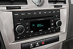 Stereo audio system close up detail view of a 2008 Chrysler Sebring Convertible