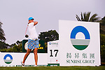 Anna Nordqvist of Sweden tees off on the 17th hole during day one of the Sunrise LPGA Taiwan Championship 2011 at the Sunrise Golf & Country Club on 20 October 2011 in Tao Yuan, Taiwan. Photo by Victor Fraile / The Power of Sport Images