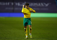 2nd February 2021; The Den, Bermondsey, London, England; English Championship Football, Millwall Football Club versus Norwich City; Max Aarons of Norwich City walking off the pitch towards the away tunnel after the final whistle in disappointment