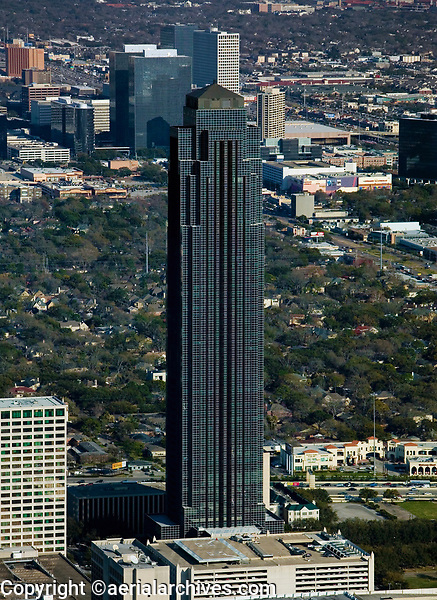 aerial photograph of the Williams Tower, Houston, Texas