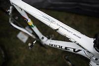 U23 World Champion Eli Iserbyt's (BEL/Telenet-Fidea) bike<br /> <br /> Noordzeecross - Middelkerke 2016