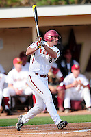 Boston College Eagles left fielder Chris Shaw (24) follows through on a swing during a game versus the Hartford Hawks at Pellagrini Diamond at Shea Field on May 9, 2015 in Chestnut Hill, Massachusetts. (Ken Babbitt/Four Seam Images)