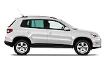Passenger side profile view of a 2010 Volkswagen Tiguan Wolfsburg SUV  Stock Photo