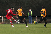 Liam Nash of Hornchurch goes close during Hornchurch vs Maidstone United, Buildbase FA Trophy Football at Hornchurch Stadium on 6th February 2021