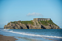 View of St. Catherine's Island  from Tenby, Pembrokeshire, Wales, UK