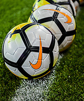 San Jose, CA - Sunday November 12, 2017: NIKE game balls during an International friendly match between the Women's National teams of the United States (USA) and Canada (CAN) at Avaya Stadium.