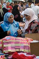 Tripoli, Libya - Medina Street Scene, Libyan Women Shopping