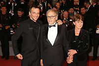 MATHIEU KASSOVITZ AND JEAN-LOUIS TRINTIGNANT - RED CARPET OF THE FILM 'HAPPY END' AT THE 70TH FESTIVAL OF CANNES 2017