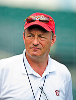 16 March 2009: Washington Nationals' President and acting General Manager Stan Kasten watches batting practice prior to a Spring Training game against the Florida Marlins at Roger Dean Stadium in Jupiter, Florida. The Nationals defeated the Marlins 3-1 in the Grapefruit League matchup. Mandatory Photo Credit: Ed Wolfstein Photo