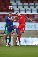 Dan Happe of Leyton Orient and Aaron Martin of Harrogate Town during Leyton Orient vs Harrogate Town, Sky Bet EFL League 2 Football at The Breyer Group Stadium on 21st November 2020