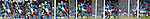 Composite image sequence of Rangers Bilel Mohsni scoring past Albion Rovers goalkeeper Neil Parry.<br /> Time elapsed less than one second